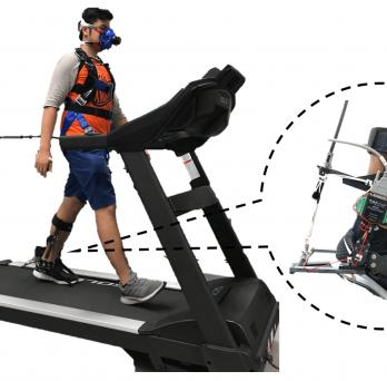 Volunteer for Robotic Ankle-Foot Orthosis Study