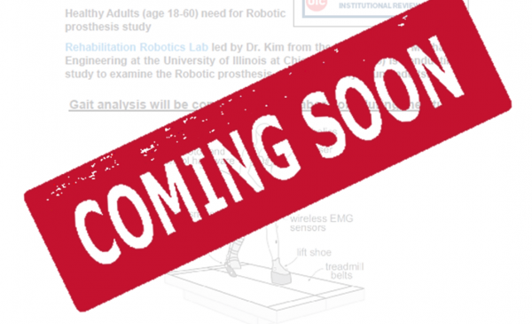 Volunteers for Robotic Prosthesis Study